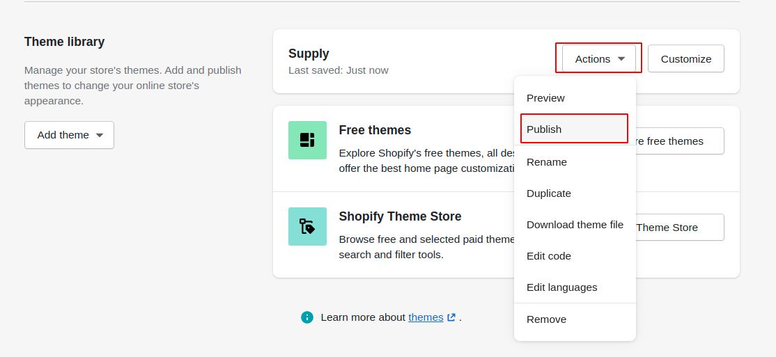 publish-shopify-theme