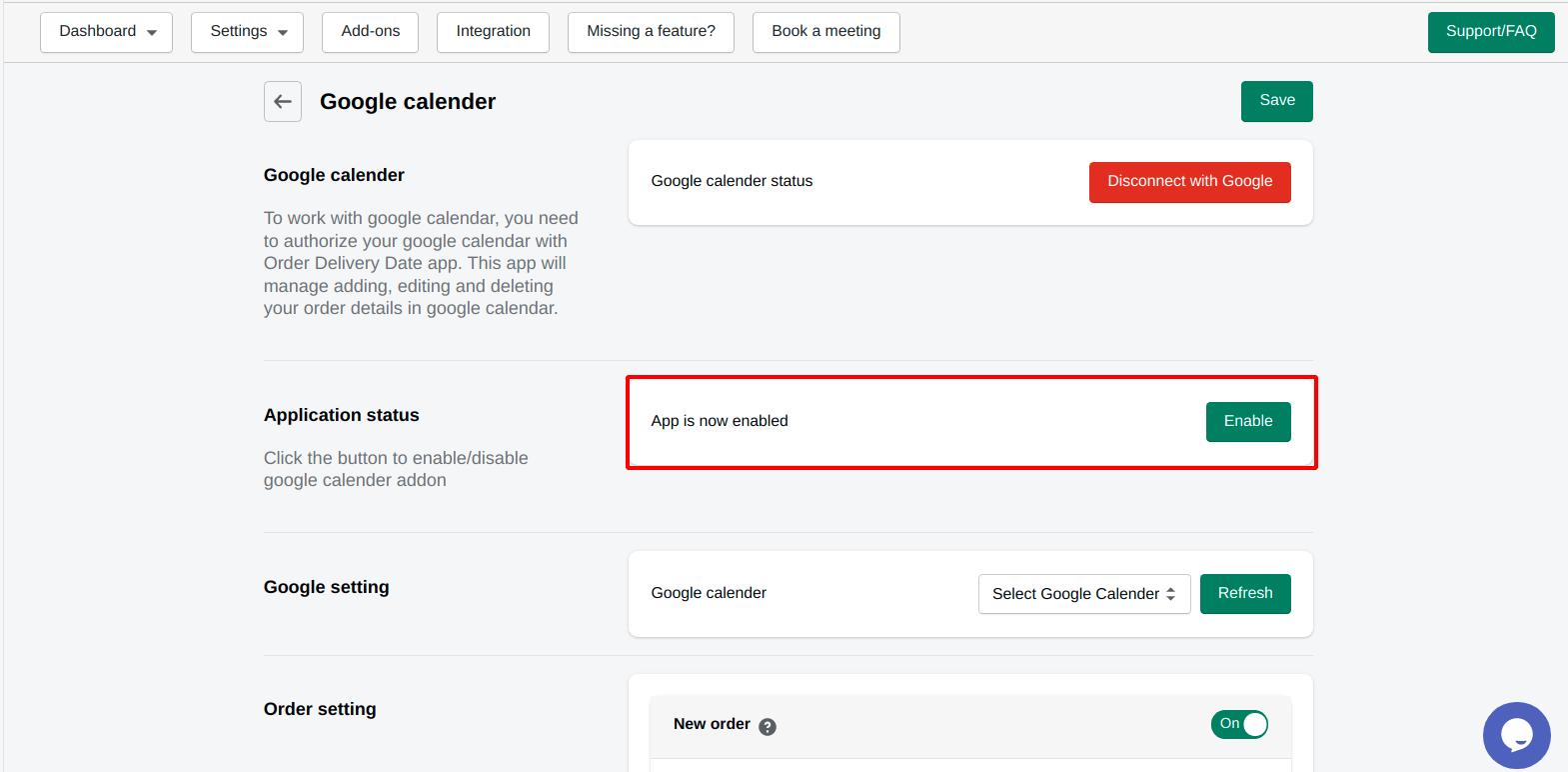 enable-google-calender