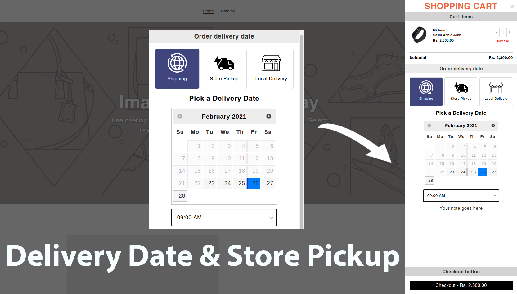 Delivery Date & Store Pickup