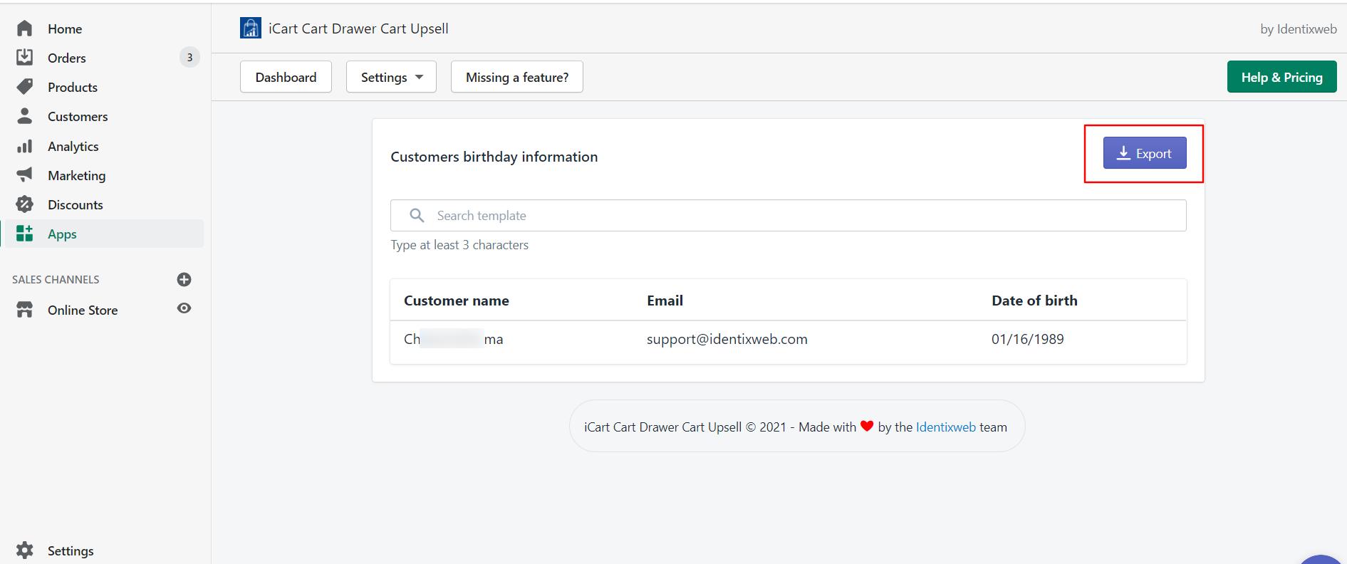 export-birthday-data