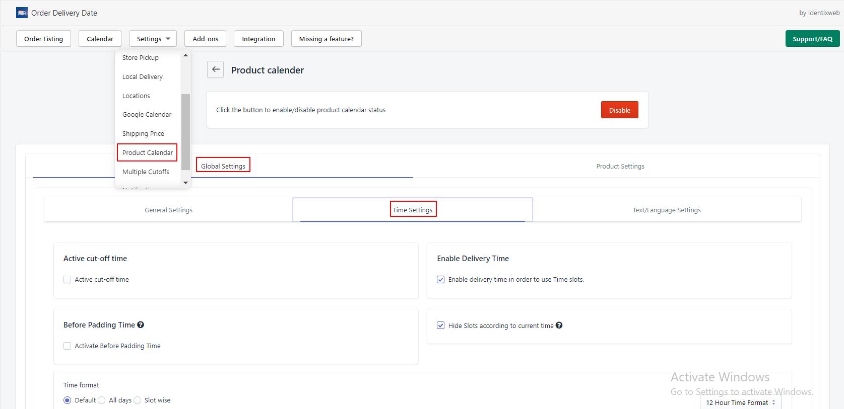 product-calendar-time-settings