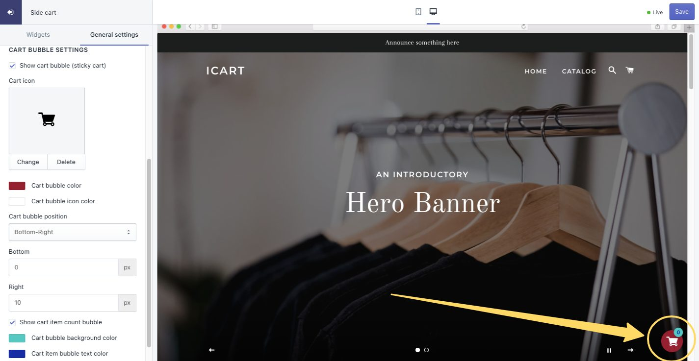 cart-bubble-Icon-setting-icart