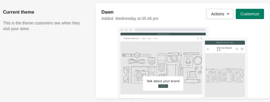 default-shopify-dawn-theme