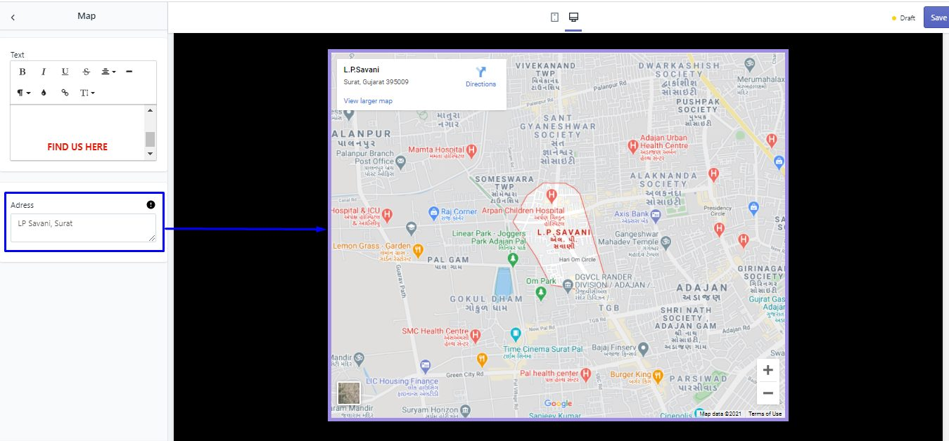map-address