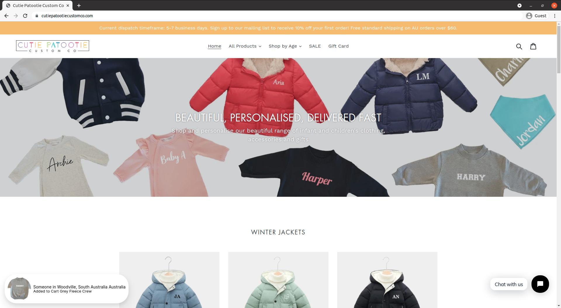 cutie-patootie-shopify-debut-theme-store