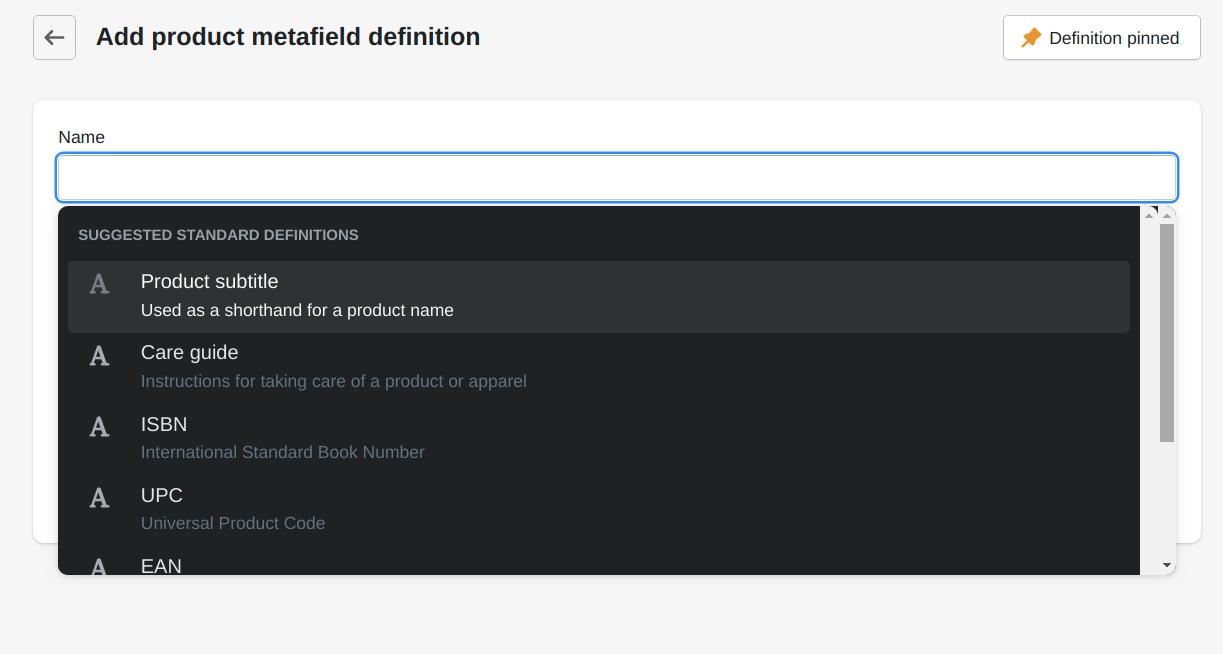 standard-metafield-definition