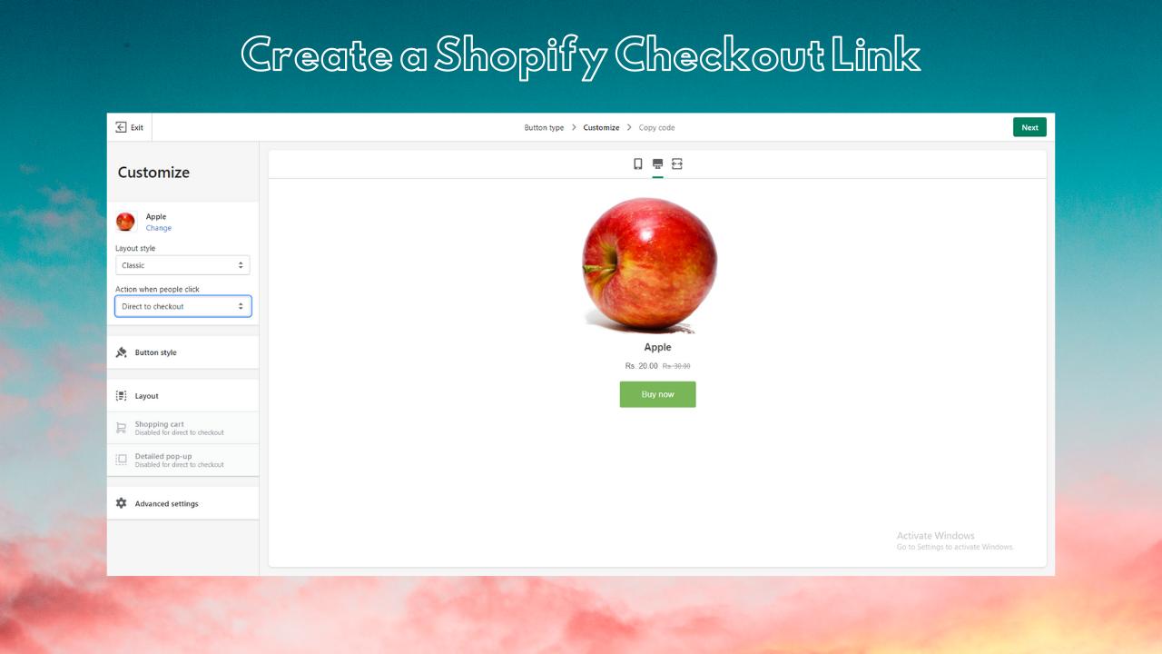 create-shopify-checkout-link