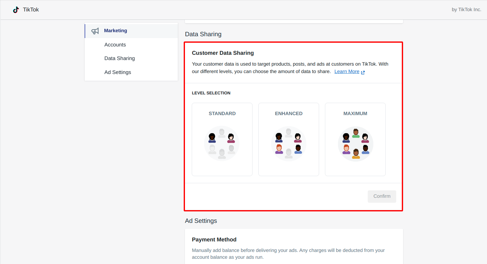 level-of-customer-data-sharing