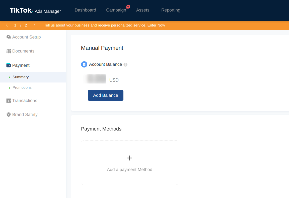 payment-method-tiktok-ads-manager