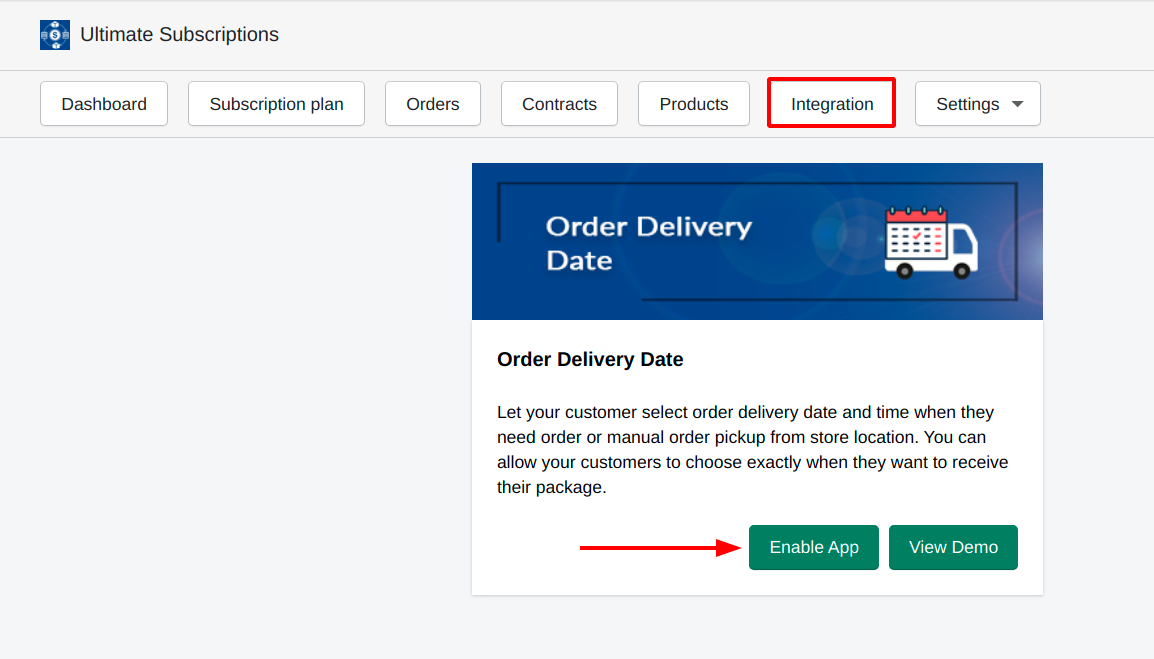 enable Order Delivery Date