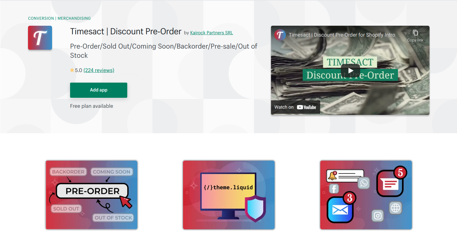 timesact-discount-pre-order-app
